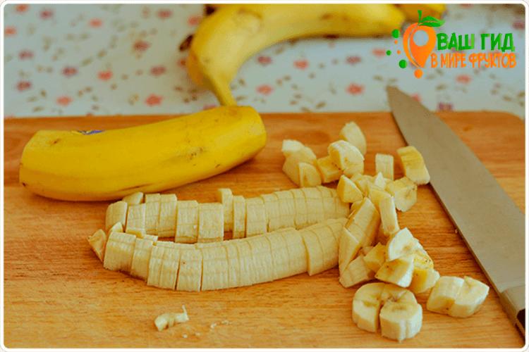 как резать банан