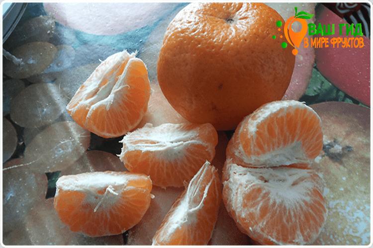 очищенный мандарин