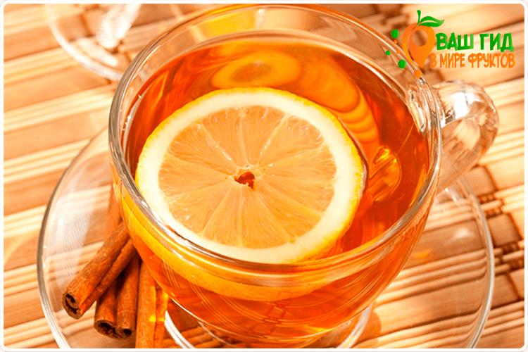 лимон в чае