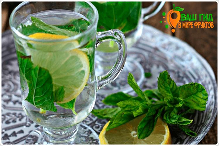 лимонная вода с мятой